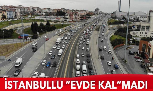 İstanbullu 'Evde Kal'madı, trafik durma noktasına geldi