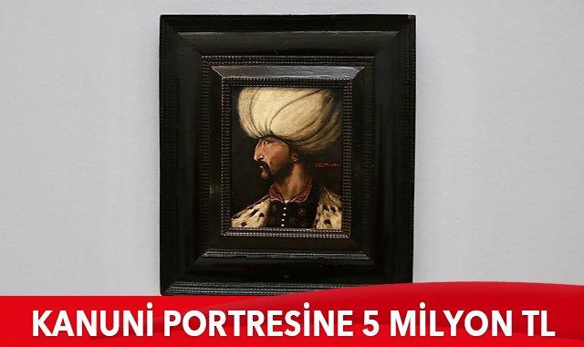 Kanuni Sultan Süleyman'ın portresi 5 milyon liraya satıldı