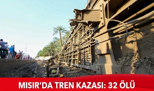 Mısır'da tren kazası: 32 ölü