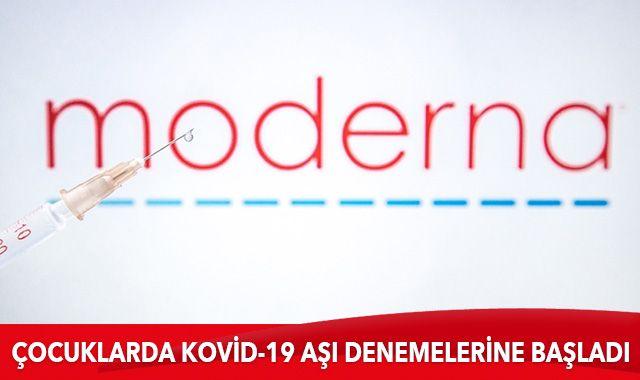Moderna, çocuklarda Kovid-19 aşı denemelerine başladı