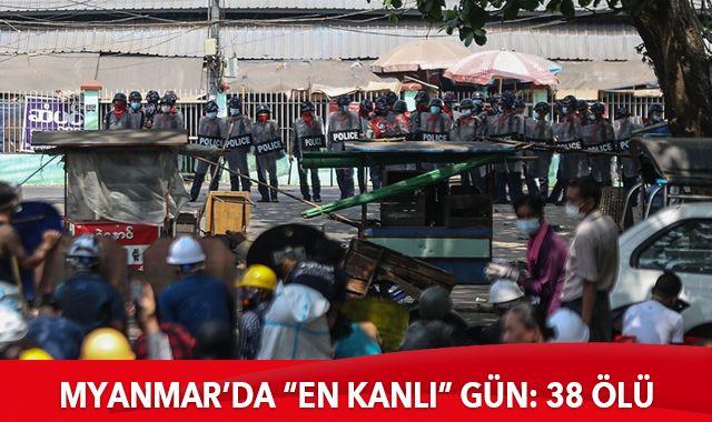 Myanmar'da darbe karşıtı göstericilere müdahale: 38 ölü