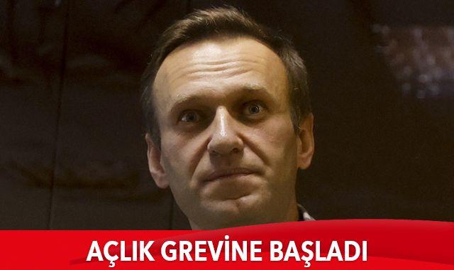 Rus muhalif lider Navalny, açlık grevine başladı