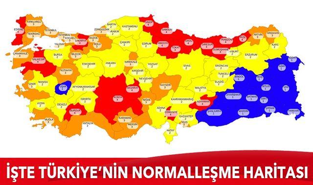 Sağlık Bakanı Koca, normalleşme haritasını paylaştı