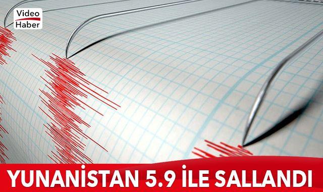 Yunanistan'da 5.9 büyüklüğünde deprem