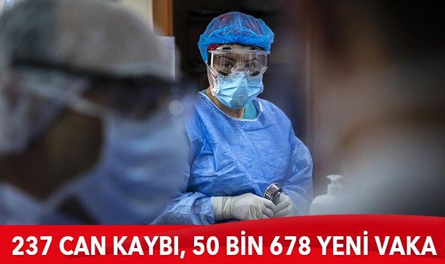 11 Nisan 2021 koronavirüs tablosu: 237 can kaybı, 50 bin 678 yeni vaka