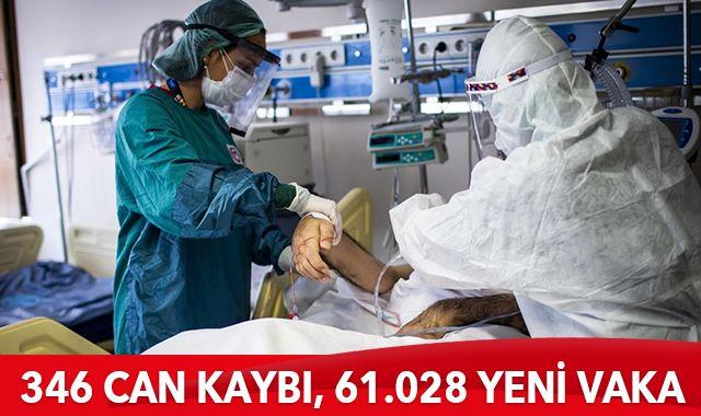 20 Nisan 2021 koronavirüs tablosu: 346 can kaybı, 61.028 yeni vaka