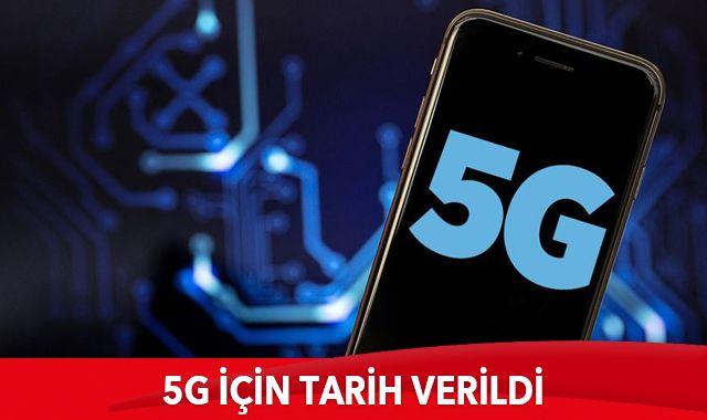 5G için tarih verildi