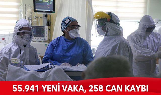 8 Nisan 2021 koronavirüs tablosu: 258 can kaybı, 55.941 yeni vaka