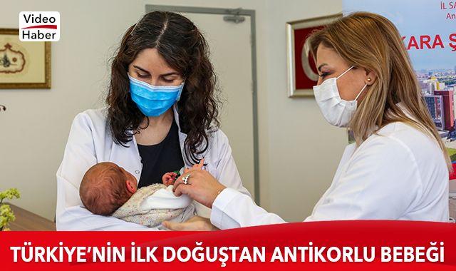 Annesi hamileyken aşılanan bebek antikorlu doğdu