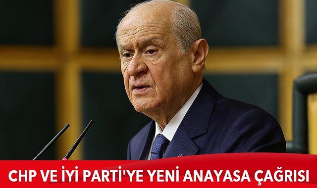 Bahçeli'den CHP ve İyi Parti'ye yeni anayasa çağrısı