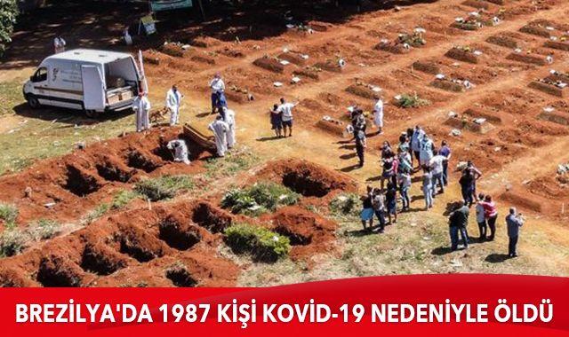 Brezilya'da son 24 saatte 1987 kişi Kovid-19 nedeniyle hayatını kaybetti