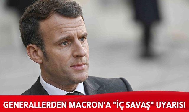 """Generallerden Macron'a """"iç savaş"""" uyarısı"""