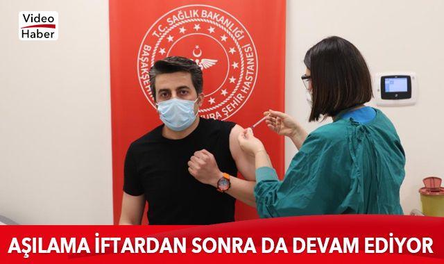 İstanbul'da korona virüs aşılaması iftardan sonra da devam ediyor