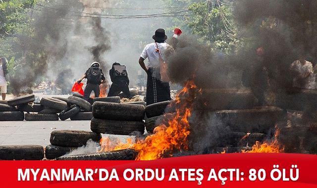 Myanmar'da protesto saldırılarında ölenlerin sayısı 80'e ulaştı