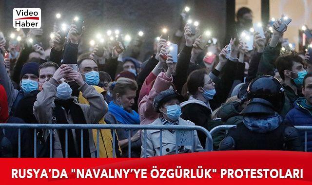 """Rusya'da, """"Navalny'ye özgürlük"""" protestoları"""