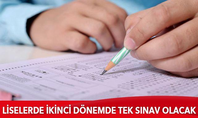 Son dakika: Milli Eğitim Bakanı Ziya Selçuk: Liselerde ikinci dönemde tek sınav olacak