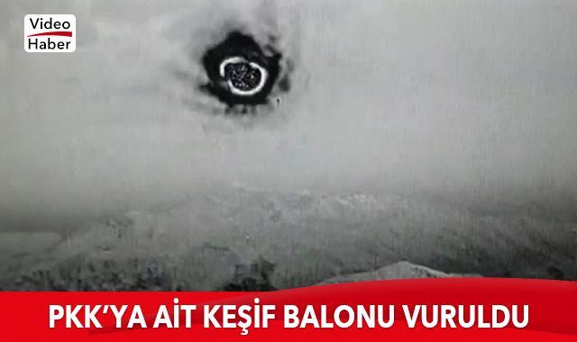 Teröristlere ait keşif balonu vuruldu