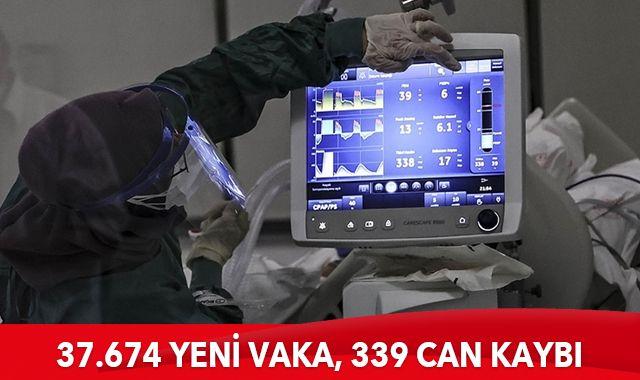 Türkiye'de son 24 saatte 37.674 yeni vaka tespit edildi, 339 kişi hayatını kaybetti