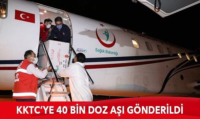 Türkiye'den KKTC'ye 40 bin doz aşı daha gönderildi