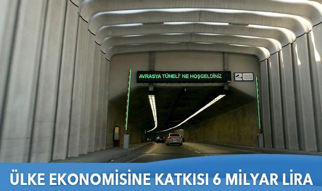 Avrasya Tüneli'nin ülke ekonomisine katkısı 6 milyar lira oldu