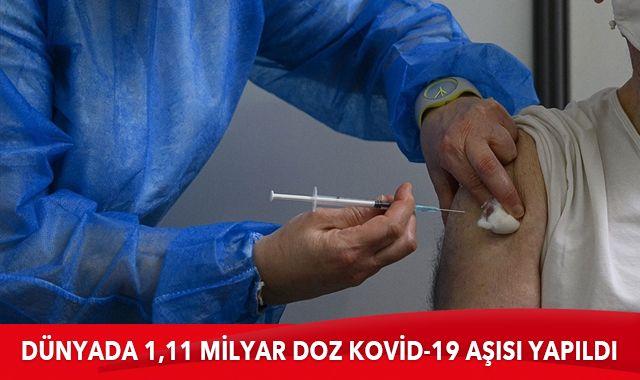 Dünya genelinde 1,11 milyar doz Kovid-19 aşısı yapıldı