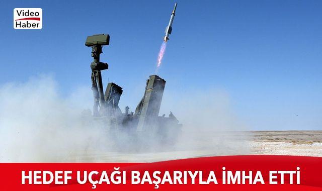 HİSAR-A füzesi, hedef uçağı başarıyla vurdu