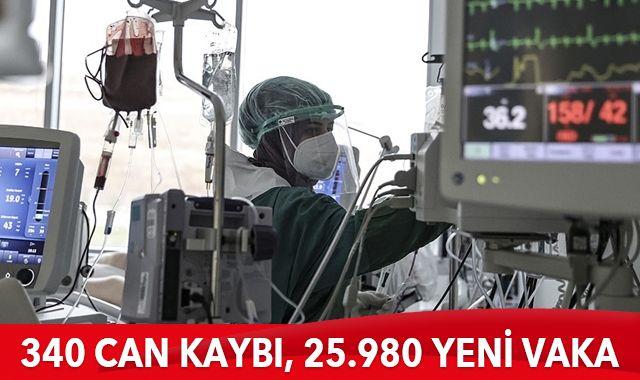 Son dakika: 2 Mayıs 2021 koronavirüs tablosu: 340 can kaybı, 25.980 yeni vaka