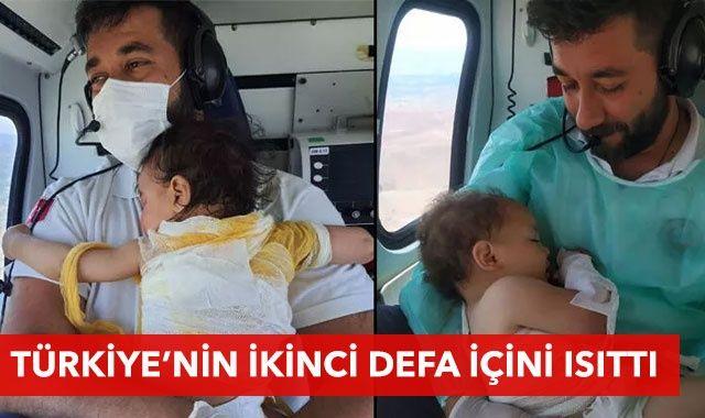 3 ay sonra bu kez Zeynep bebek Mehmet Canko'nun kucağında