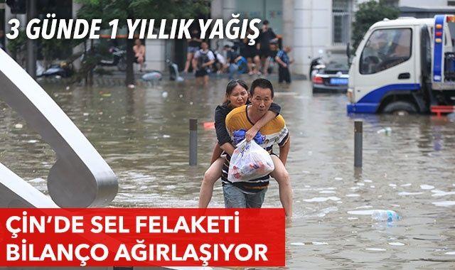 Çin'de sel felaketi: Can kaybı artıyor
