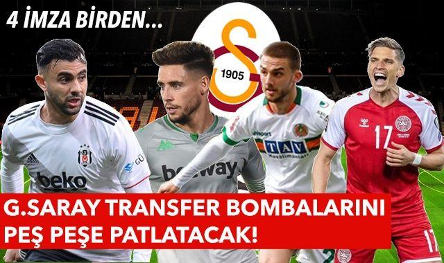 Galatasaray transferde atağa kalktı! Rachid Ghezzal, Jens Stryger Larsen, Berkan Kutlu, Alex Moreno... Son dakika transfer haberleri