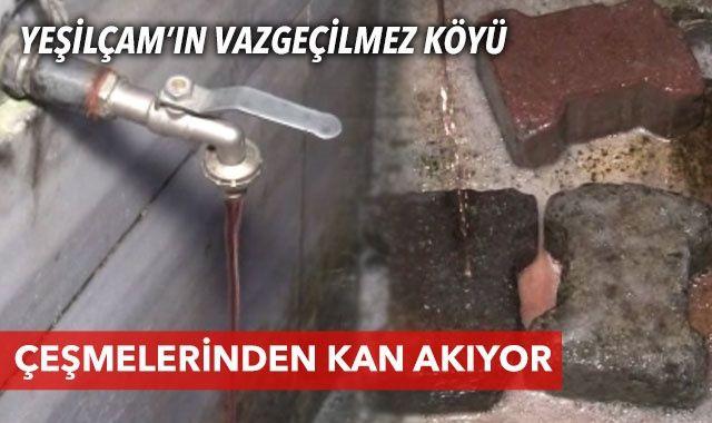 İstanbul'da çeşmeden kan aktı