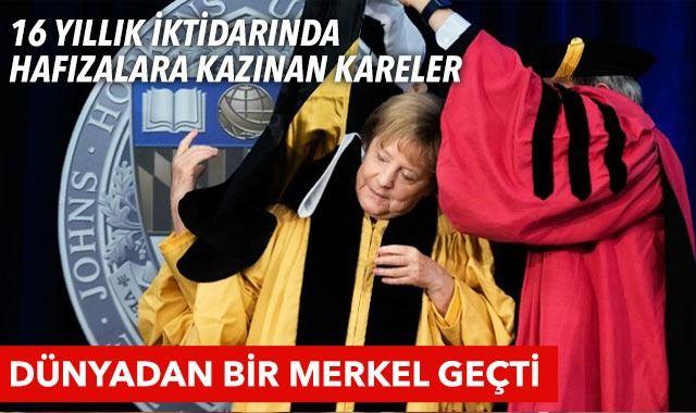 Onu hiç böyle görmediniz! Şansölye Angela Merkel'in zor ama komik halleri!