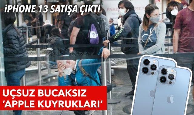 iPhone 13 satışa çıktı: Birçok ülkede 'Apple kuyrukları' oluştu