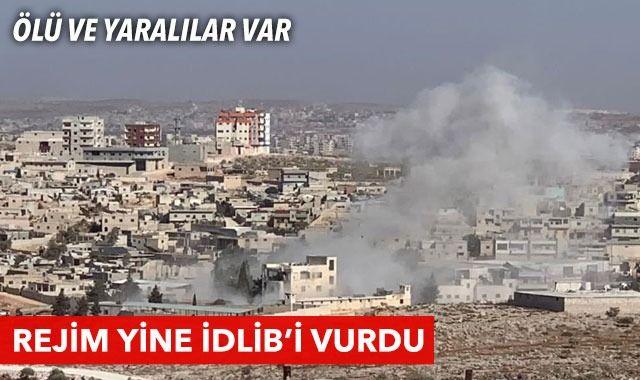 Esad rejimi yine İdlib'i vurdu: 3 ölü, 10 yaralı