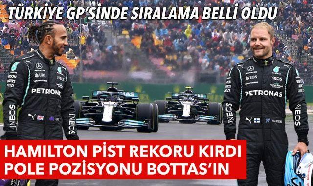 Formula 1 Türkiye GP'sinde pole pozisyonu Valtteri Bottas'ın