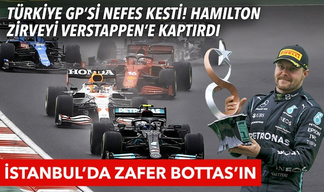 Formula 1 Türkiye GP'sinde zafer Valtteri Bottas'ın