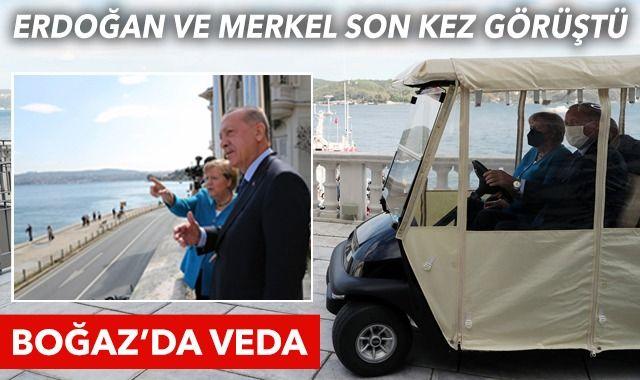 Huber Köşkü'ne geldi: Merkel'den Erdoğan'a veda ziyareti