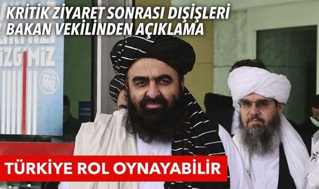 Kritik ziyaret sonrası Dışişleri Bakan Vekili Emirhan Muttaki'den açıklama! Türkiye Afganistan'da rol alabilir