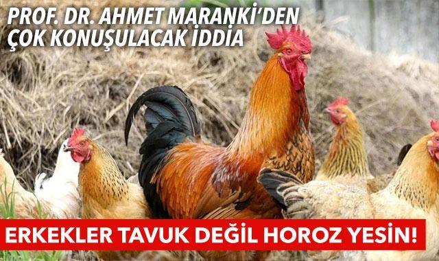 Prof. Dr. Ahmet Maranki'den çok konuşulacak iddia: Erkekler tavuk değil horoz yesin!