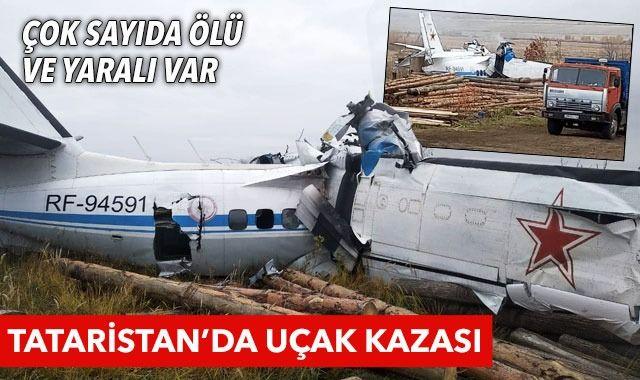 Son dakika! Tataristan'da uçak kazası: Çok sayıda ölü var