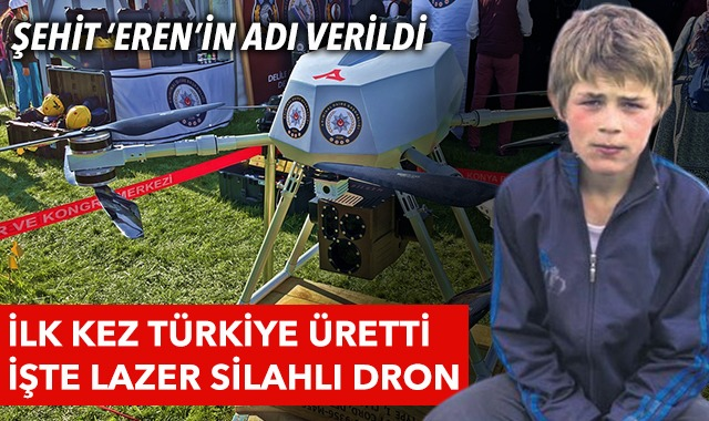 Türkiye, dünyanın ilk lazer silahlı dronunu üretti