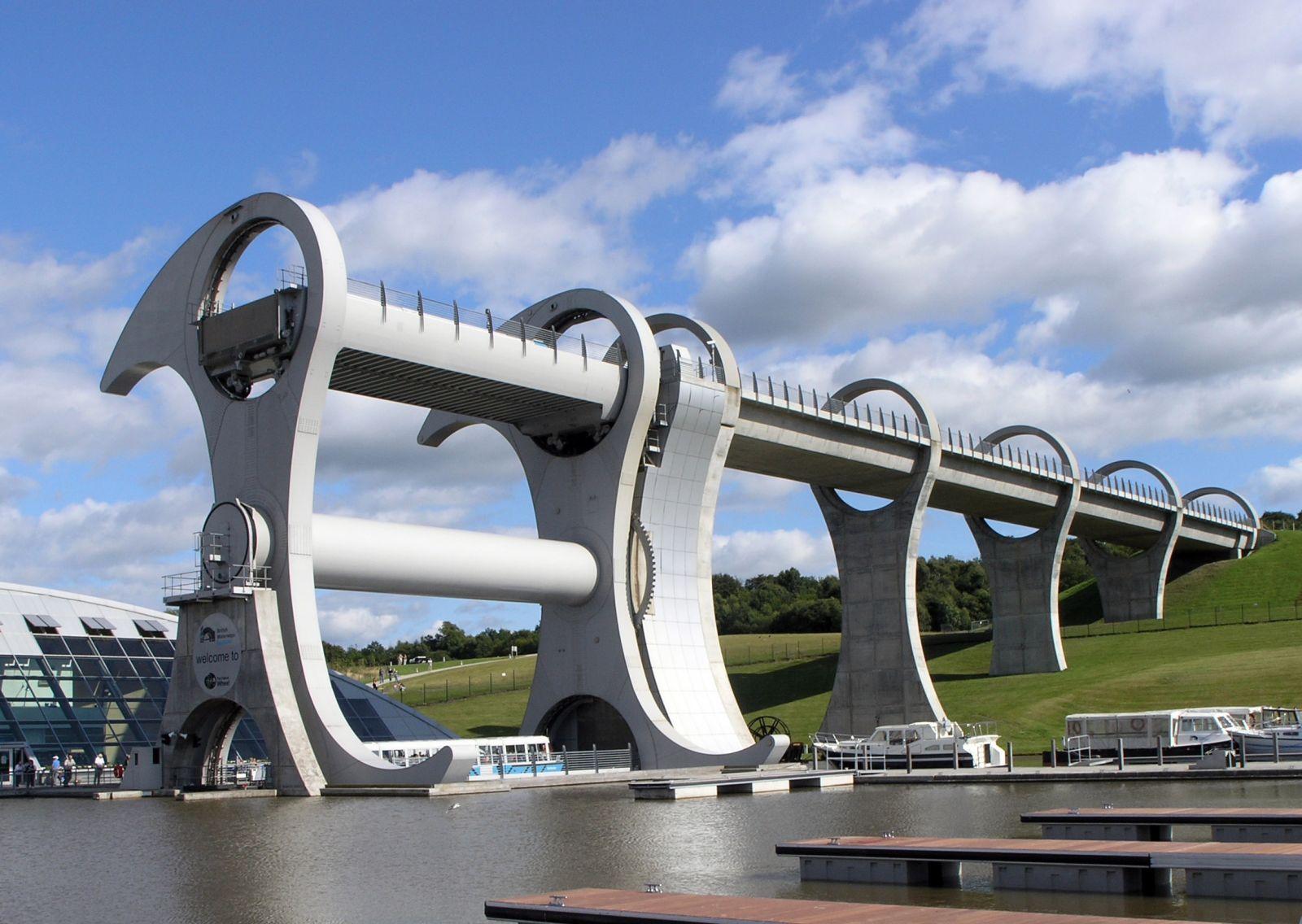 Falkirk Wheel Köprüsü İskoçya