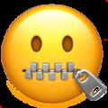 Fermuarlı ağızlı emoji