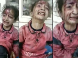 Suriyeli küçük kızın yürek burkan feryadı - izle