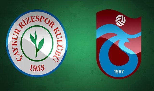 Çaykur Rizespor Trabzonspor ilk yarı maç özeti ve golleri