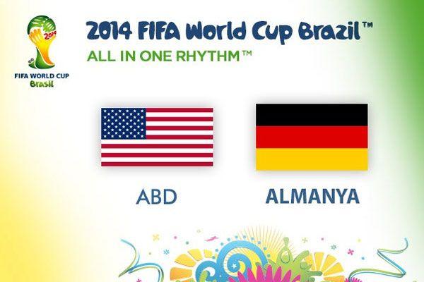 Dünya Kupası 2014 ABD ve Almanya bir üst tura yükseldi