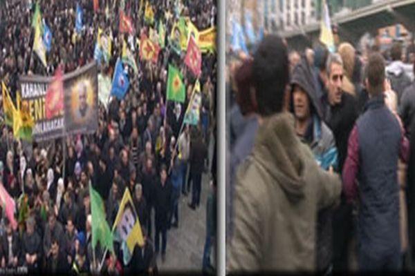 Aksaray'da yürüyüş yapan BDP'li grup olay çıkardı