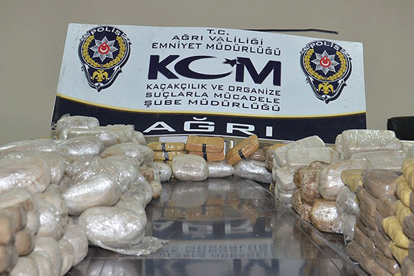 Ağrı'da 457 kilo 757 gram eroin ele geçirildi
