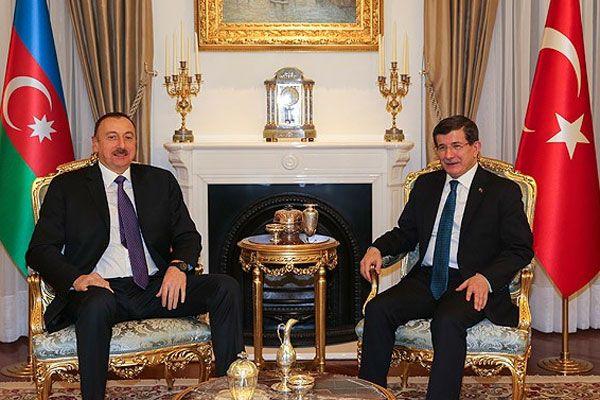 Davutoğlu Aliyev ile görüştü