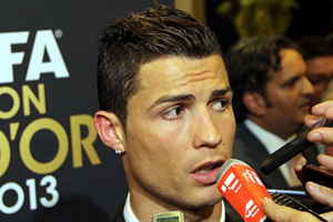Ronaldo, Altın Top'u antrenmana götürdü